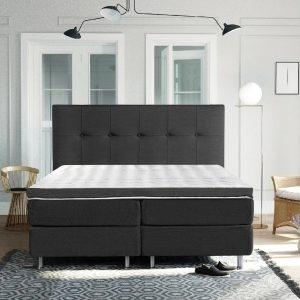 Complete Luxe Boxspring - Sierre - Dreamhouse - 140x200 - Antraciet - Twijfelaar - Bed