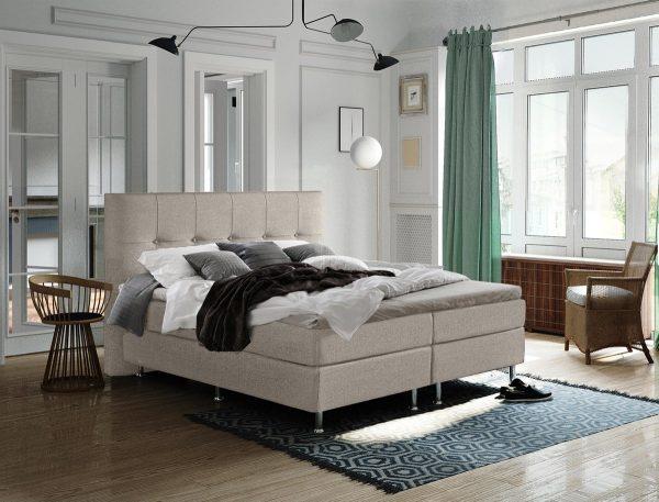 Complete Luxe Boxspring - Sierre - Dreamhouse - 140x200 - Beige - Twijfelaar - Bed