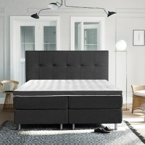 Complete Luxe Boxspring - Sierre - Dreamhouse - 160x200 - Antraciet - Twee persoons - Bed