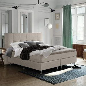 Complete Luxe Boxspring - Sierre - Dreamhouse - 160x200 - Beige - Twee persoons - Bed
