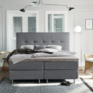 Complete Luxe Boxspring - Sierre - Dreamhouse - 160x200 - Grijs - Twee persoons - Bed