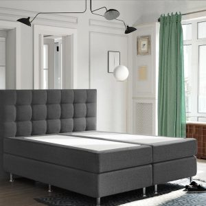Complete Luxe Boxspring - Zurich - Dreamhouse - 160x200 - Antraciet - Twee persoons - Bed