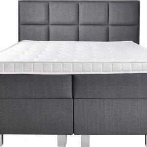 Complete Opbergboxspring 140x200 cm - Pocketvering matrassen - Dreamhouse Hamar - Twijfelaar bed met opbergruimte