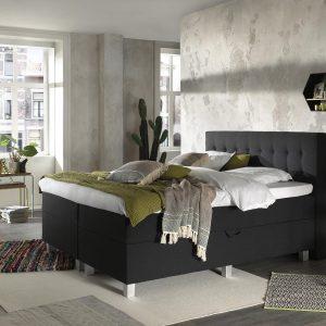 Complete Opbergboxspring 140x200 cm - Pocketvering matrassen - Dreamhouse Ilse - Twijfelaar bed met opbergruimte
