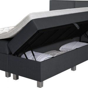 Complete Opbergboxspring 140x200 cm - Pocketvering matrassen - Dreamhouse Narvik - Twijfelaar bed met opbergruimte