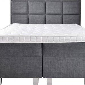 Complete Opbergboxspring 160x200 cm - Pocketvering matrassen - Dreamhouse Hamar - Tweepersoons bed met opbergruimte