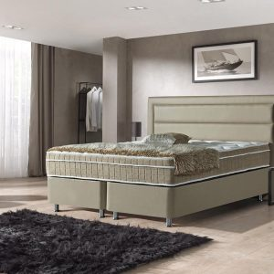 Dreamhouse Boxspring St. Tropez 140x200 | Taupe | Opbergboxspring