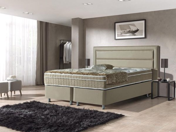 Dreamhouse Boxspring St. Tropez 160x200   Taupe   Opbergboxspring