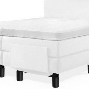 Elektrische Boxspring Milano - 180x210 cm - Compleet inclusief matrassen - Kleur: kunstleer wit