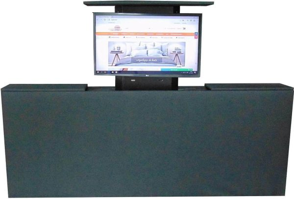 Los voetbord met TV lift - XL: TV's t/m 50 inch - 120 cm breed - Antraciet