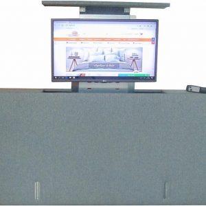 Los voetbord met TV lift - XL: TV's t/m 50 inch - 140 cm breed - Grijs