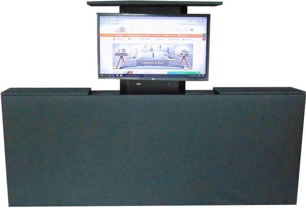 Los voetbord met TV lift - XL: TV's t/m 50 inch - 140 cm breed - Zwart