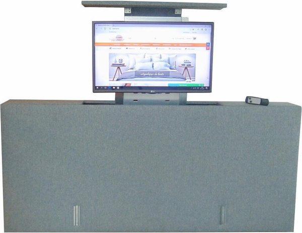 Los voetbord met TV lift - XL: TV's t/m 50 inch - 160 cm breed - Grijs