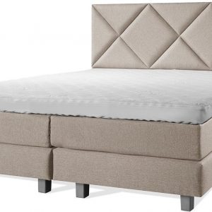 Luxe Boxspring 140x220 Compleet Beige