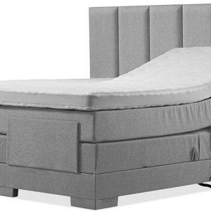 Luxe Boxspring 140x220 Elektrische Grijs Suite
