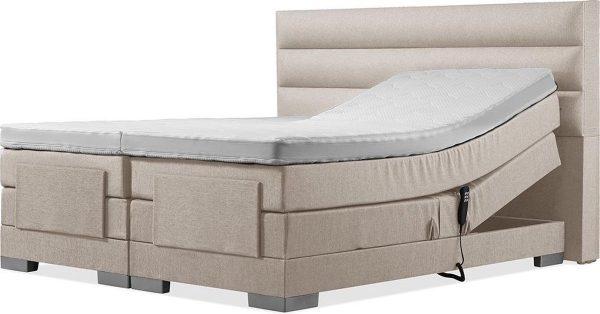 Luxe Boxspring 160x220 Elektrische Beige Suite