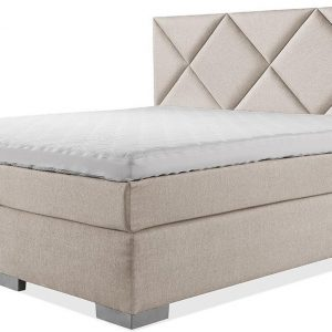 Luxe Boxspring 200x200 Compleet Beige Suite