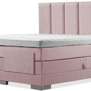 Luxe Boxspring 200x220 Elektrische Oudroze Suite