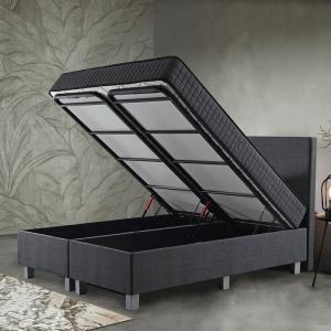Primaviera Deluxe Opbergboxspring Space 180 x 200 cm, Topperkeuze: Upgrade: Luxe Traagschuim Topper (+€200), Montage: Exclusief Montage