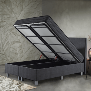 Primaviera Deluxe Opbergboxspring Space 180 x 200 cm, Topperkeuze: Upgrade: Luxe Traagschuim Topper (+€200), Montage: Inclusief Montage