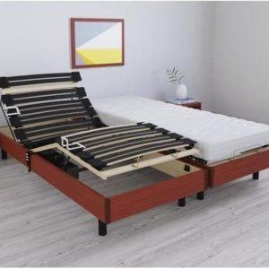 RODA Relaxatieset matras + elektrische bedbodem 2 x 80 x 200 cm - Schuim - 14 cm - Boerderij