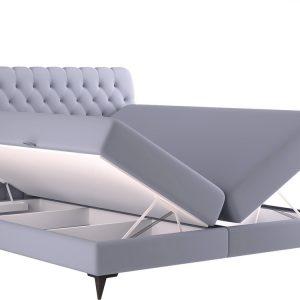 Sentip boxspring - Boxsprings - box spring - bedden 140 x 200 cm - Met Opbergruimte - hoofdbord - Velvet - velours - matras - Pocketvering - topper