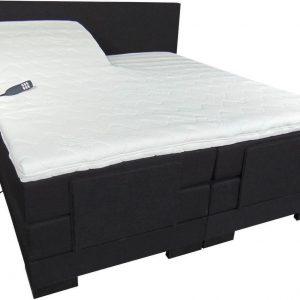Slaaploods.nl Cool - Elektrische Boxspring inclusief matras - 160x200 cm - Zwart