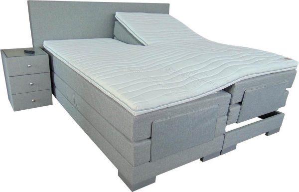 Slaaploods.nl Cool - Elektrische Boxspring inclusief matras - 180x200 cm - Grijs