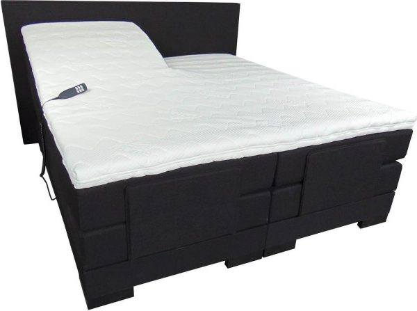 Slaaploods.nl Cool - Elektrische Boxspring inclusief matras - 180x200 cm - Zwart
