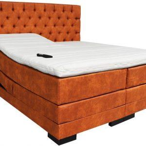 Slaaploods.nl Princess - Elektrische Boxspring inclusief matras - 160x220 cm - Cognac