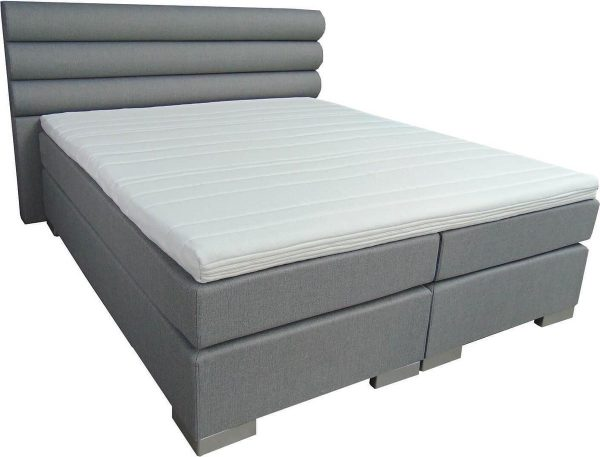 Slaaploods.nl Romance - Boxspring inclusief matras - 160x220 cm - Grijs