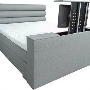 Slaaploods.nl Romance Plus - Complete Boxspring met TV Lift - t/m 43 inch - 140x220 cm - Grijs