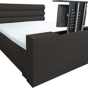 Slaaploods.nl Romance Plus - Complete Boxspring met TV Lift - t/m 43 inch - 140x220 cm - Zwart