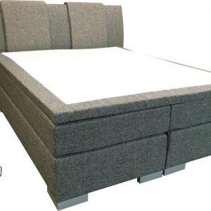 Slaaploods.nl Zeus - Boxspring inclusief matras - 140x220 cm - Grijs
