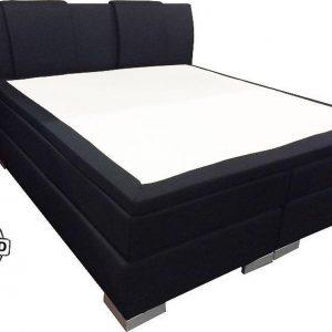 Slaaploods.nl Zeus - Boxspring inclusief matras - 160x210 cm - Zwart