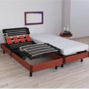 VIGO Relaxatieset matras + elektrische bedbodem 2 x 80 x 200 cm - Schuim - 16 cm - Boerderij