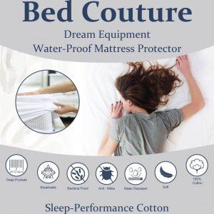 Bed Couture Hoogwaardige Matrasbeschermer SLEEP PERFORMANCE KATOEN 90 x 200 cm met hoge hoek 100% waterdicht met PU Laag