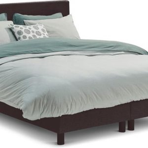 Beter Bed Basic box Ambra vlak met Easy Pocket matras - 120 x 200 cm - donkergrijs