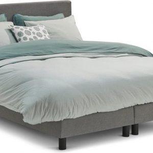 Beter Bed Basic box Ambra vlak met Easy Pocket matras - 120 x 200 cm - lichtgrijs
