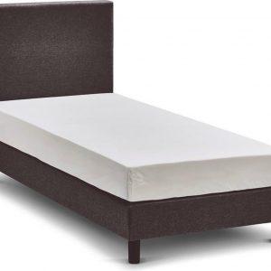 Beter Bed Basic box Ambra vlak met Easy Pocket matras - 90 x 200 cm - donkergrijs