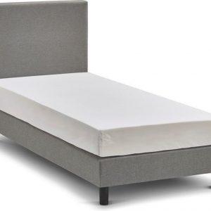 Beter Bed Basic box Ambra vlak met Easy Pocket matras - 90 x 200 cm - lichtgrijs