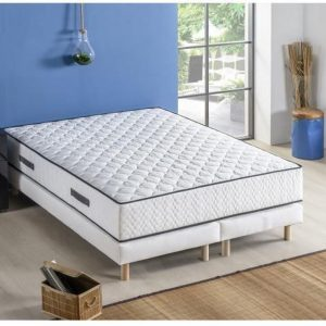 DEKO DREAM Set matras 180 x 200 + 2 bedbodems 2 x 90 x 200 - Veren - 24 cm - 5 zones - Evenwichtig - ONTSPANNING