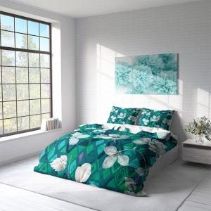DLC Aqua Flowers Lits-jumeaux (240 x 220 cm + 2 kussenslopen)