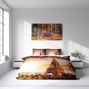 DLC Eiffel Leaves Lits-jumeaux (240 x 220 cm + 2 kussenslopen) Dekbedovertrek
