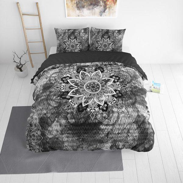 DreamHouse Bedding Jady - Antraciet Lits-jumeaux (240 x 220 cm + 2 kussenslopen) Dekbedovertrek