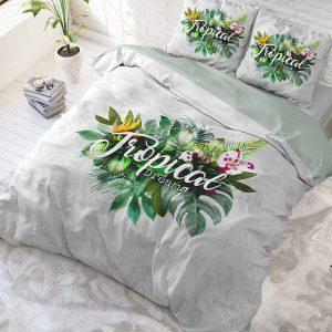 DreamHouse Bedding Tropical Dreams - Groen Lits-jumeaux (240 x 220 cm + 2 kussenslopen) Dekbedovertrek