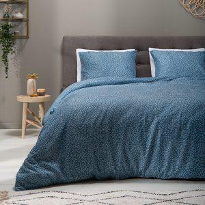 Fresh & Co Devotion - Blauw Lits-jumeaux (240 x 220 cm + 2 kussenslopen) Dekbedovertrek