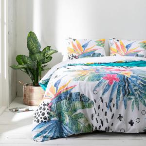 Fresh & Co Graphic Flowers Lits-jumeaux (240 x 220 cm + 2 kussenslopen) Dekbedovertrek