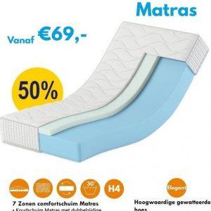 Karex® Komfort Serie Comfort schuimmatras 140x200 14 cm H3 H4 met 7 ligzones