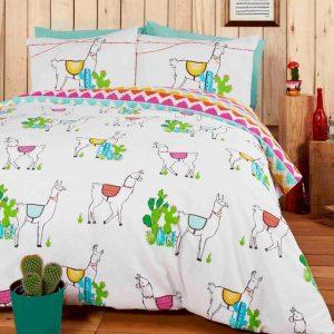 Lama dekbedovertrek lits-jumeaux - Lama's dekbed